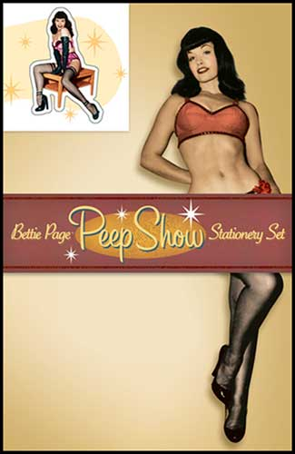 Image: Bettie Page Peepshow Stationery Set  -