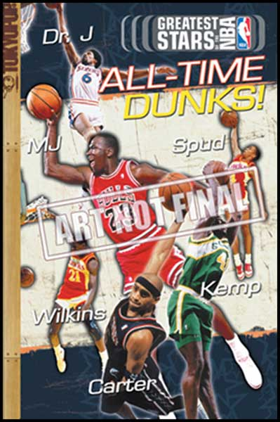 Image: Greatest Stars of the NBA Cine-Manga Vol. 08: All Time Dunks SC  - Tokyopop Cine-Manga