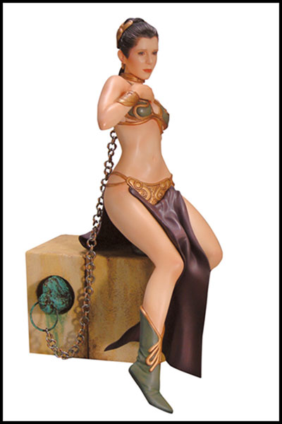Image: Princess Leia  (slave) Soft Vinyl Model Kit - Dark Horse Comics