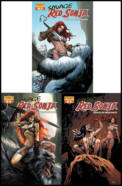Image: Savage Red Sonja: Queen of the Forgotten Wastes #3 - D. E./Dynamite Entertainment