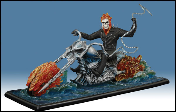 Image: Ghost Rider on Water Movie Statue  - Marvel Comics