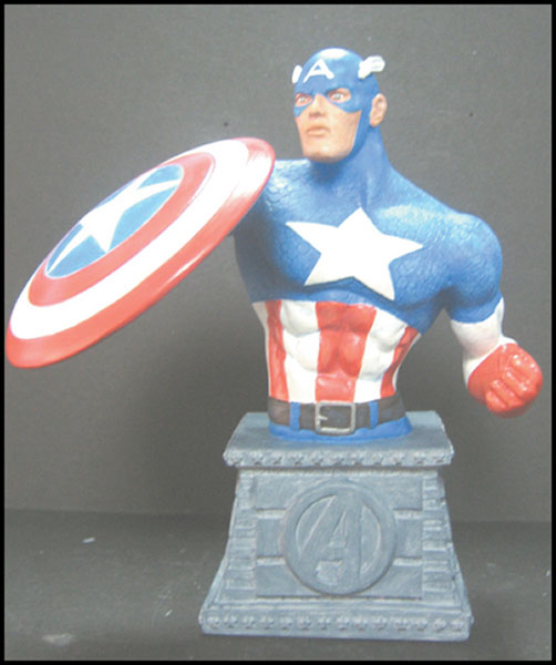 Image: Marvel Bust Paperweight: Captain America  - Marvel Comics