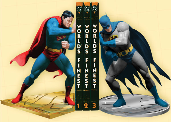Image: Superman / Batman Worlds Finest Bookends  -