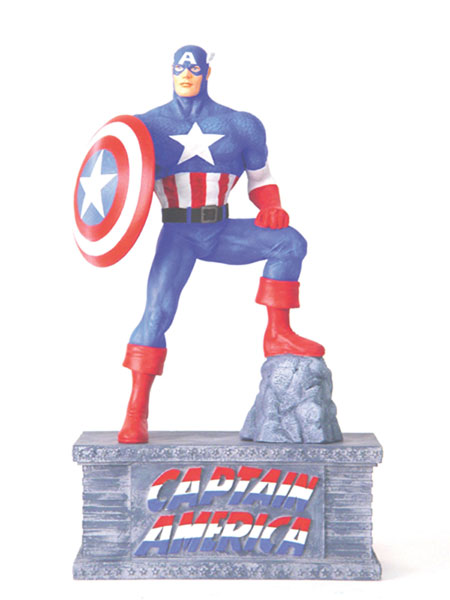 Image: Captain America Resin Figural Bank  - Marvel Comics