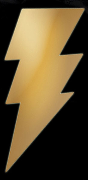 Image: Black Adam Metalix Symbol T-Shirt  (L) -
