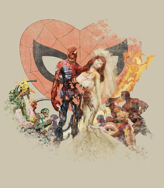 Image: Marvel Zombies: Dead Wedding Tan T-Shirt  (M) - Marvel Comics