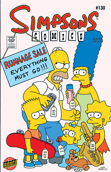 Image: Simpsons Comics #130 - Bongo Comics