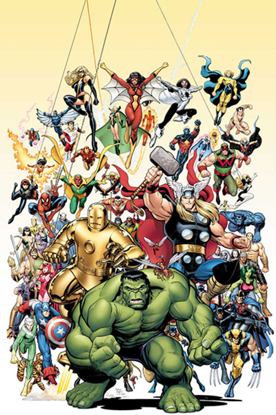 Image: Avengers Art Adams Poster  - Marvel Comics