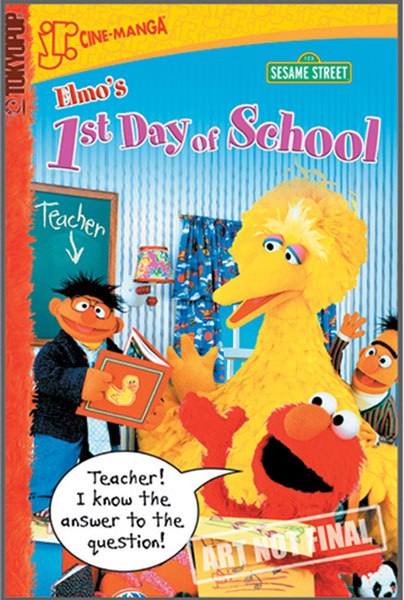 Image: Sesame Street Cinemanga Vol. 03: Elmo - First Day of School SC  - Tokyopop Cine-Manga