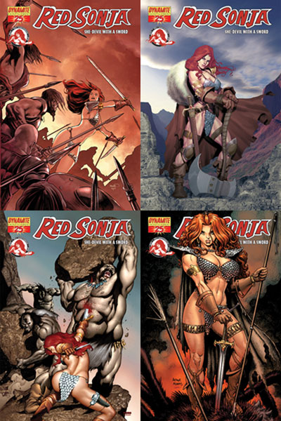 Image: Red Sonja  #25 (Olivetti Cover) - D. E./Dynamite Entertainment