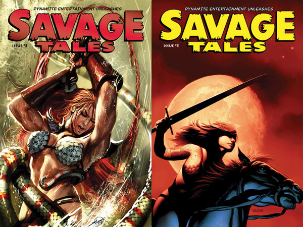 Image: Savage Tales  #3 (Sejic Cover) - D. E./Dynamite Entertainment