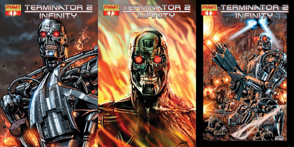 Image: Terminator 2: Infinity  #3 (Raynor Cover) - D. E./Dynamite Entertainment