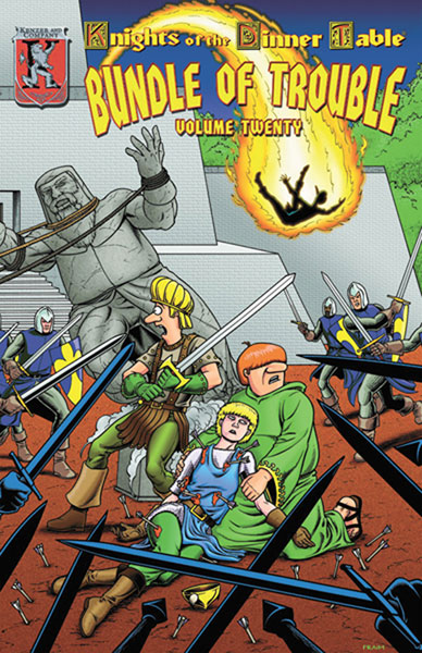 Image: Knights of the Dinner Table: Bundle of Trouble Vol. 20 SC  - Kenzer & Company
