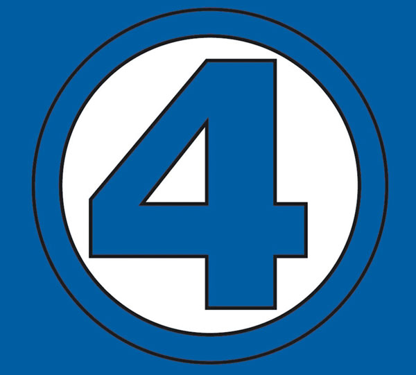 Image: Fantastic Four: Symbol Youth T-Shirt  (L) - Marvel Comics