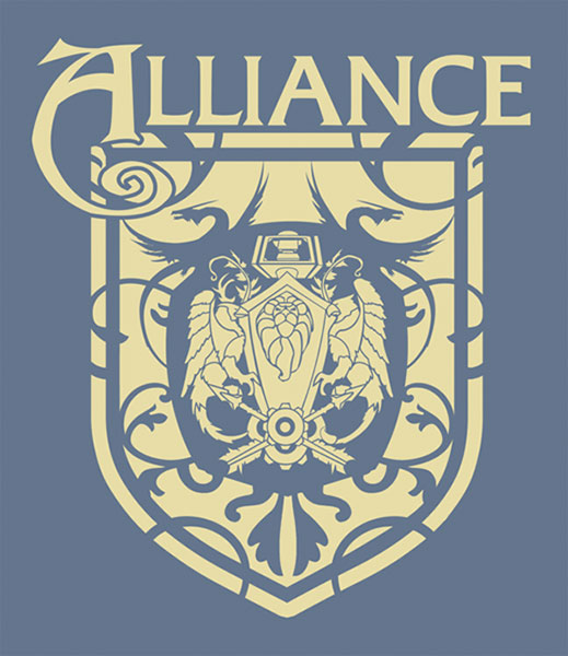 Image: World of Warcraft Alliance Crest Blue T-Shirt  (L) -