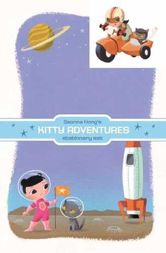 Image: Dark Horse Deluxe Stationery Set: Seonna Hong Kitty Adventures  - Dark Horse Comics