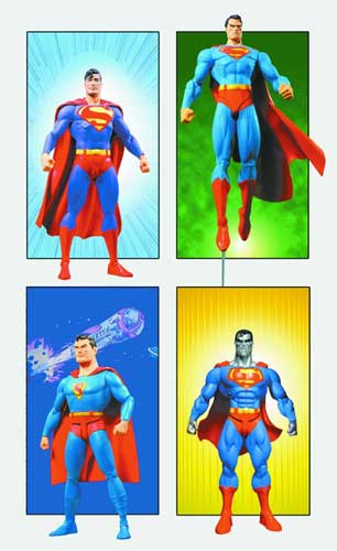 Image: Superman Through the Ages Action Figure Gift Set  -