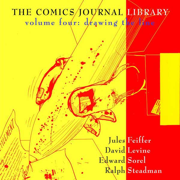 Image: Comics Journal Library Vol. 04: Drawing the Line SC  - Fantagraphics Books