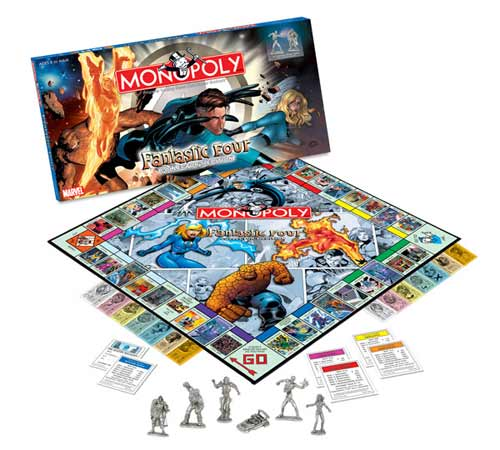 Image: Fantastic Four Monopoly  - Marvel Comics