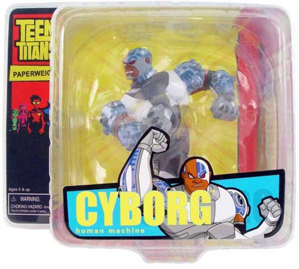 Image: Teen Titans Mini-Paperweight: Cyborg  -