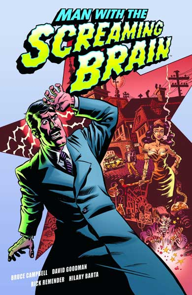 Image: Man with the Screaming Brain SC  - Dark Horse Comics