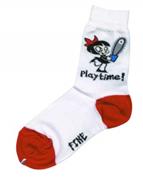 Image: Scary Miss Mary Playtime OSFA Socks  - Mighty Fine
