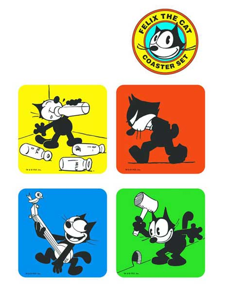 Image: Felix the Cat Coaster Set  -