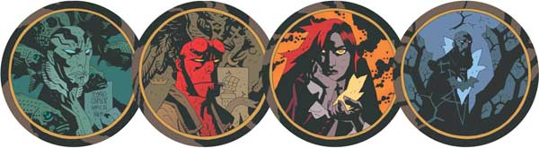 Image: Hellboy Movie Art Coaster Set  - Dark Horse Comics