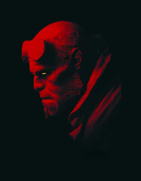 Image: Hellboy in Profile Tin Sign  - Dark Horse Comics