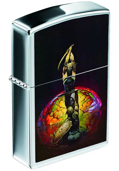 Image: Frazetta Photo Zippo Lighter #3: The Brain  -