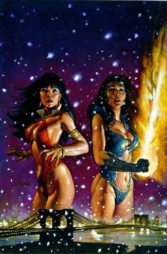Image: Vampirella / Witchblade Trilogy SC  - Anarchy Studios / Harris Comics