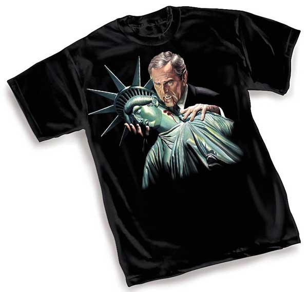 Image: Sucking Democracy Dry by Alex Ross T-Shirt  (L) - Alex Ross