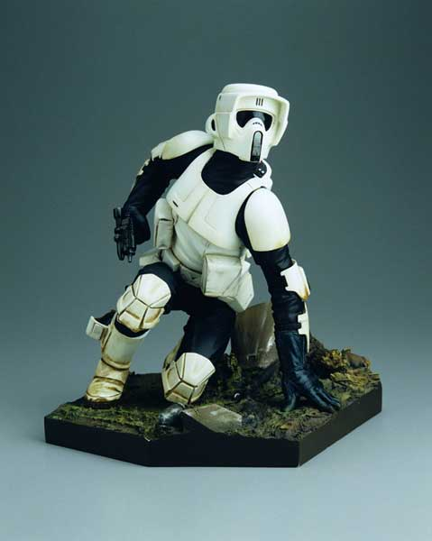 Image: Star Wars: Scout Trooper Kotobukiya Soft Vinyl Model Kit  - Dark Horse Comics