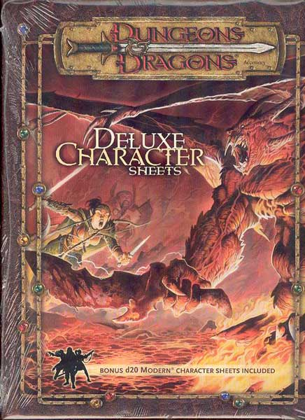 Image: Dungeons & Dragons Deluxe Player Character Sheets  -