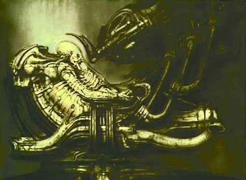 Image: H.R. Giger Lithograph #2: Pilot in Cockpit Lithograph #2  -