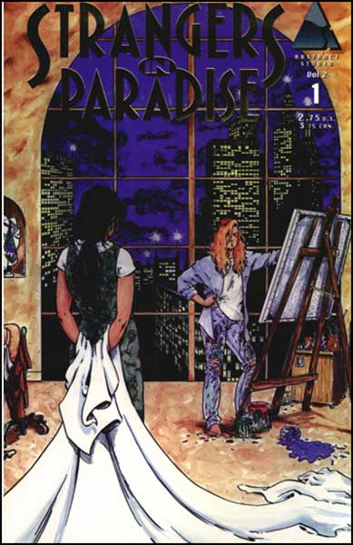 Image: Strangers in Paradise V. II #1 (Gold reprint ed.) - Abstract Studios
