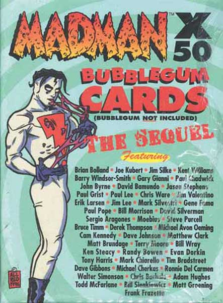 Image: Madman X 50 Bubblegum Trading Card Set the Sequel  -