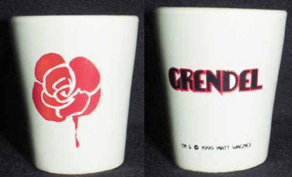Image: Grendel Black, White & Red Shotglass: White  -