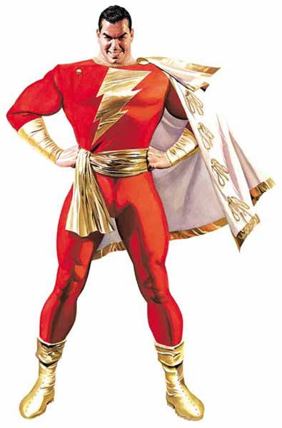 Image: Shazam by Alex Ross Poster  - DC Comics