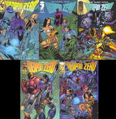 Image: Weapon Zero 5 Issue Comic Set  - Image Comics