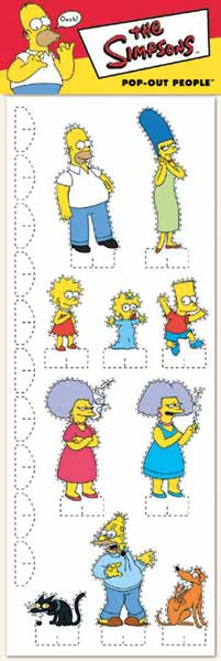 Image: Simpsons Pop-Out People  -