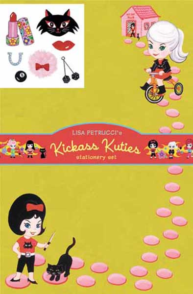Image: Dark Horse Deluxe Stationery Set: Lisa Petruccia - Kick Ass Kuties  - Dark Horse Comics