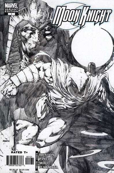 Image: Moon Knight #1 (David Finch 1:20 sketch variant cover) - Marvel Comics