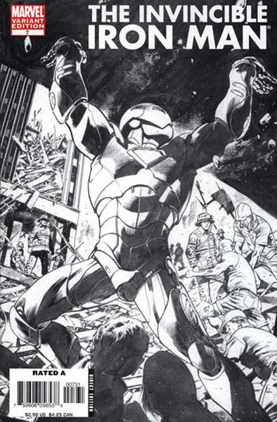 Image: Iron Man #7 (1:40 Bryan Hitch sketch variant) - Marvel Comics
