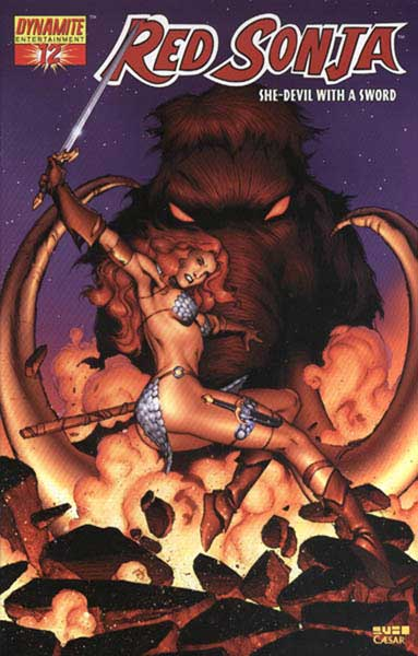 Image: Red Sonja #12 (Rubi Anniversary 1:10 incentive) - D. E./Dynamite Entertainment