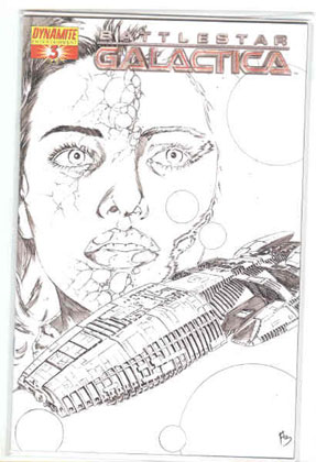 Image: Battlestar Galactica #3 (Adriano Batista Sketch incentive cover) - D. E./Dynamite Entertainment