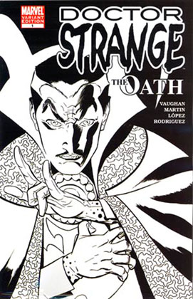 Image: Doctor Strange: The Oath #1 (Black & White variant cover) - Marvel Comics