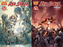 Image: Red Sonja Vacant Shell #1 (Black & White incentive cover) - D. E./Dynamite Entertainment