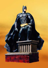 Image: Batman Begins Batman on Rooftop Statue  -