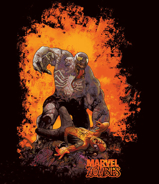 Image: Marvel Zombies: Coded Venom Black T-Shirt  (L) -